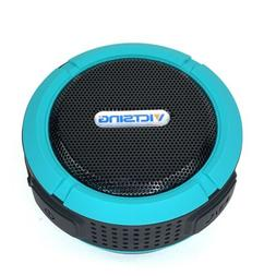 Bluetooth Wireless Speaker Round Black Teal Shower Suction C