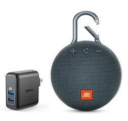 JBL Clip 3 Portable Bluetooth Wireless Speaker Bundle with D