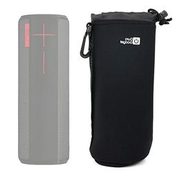 DURAGADGET Deluxe Padded Black Water-Resistant Carry Pouch f