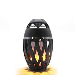 LEDMEI Led Flame Speakers, Flame Torch Atmosphere Speaker Bl