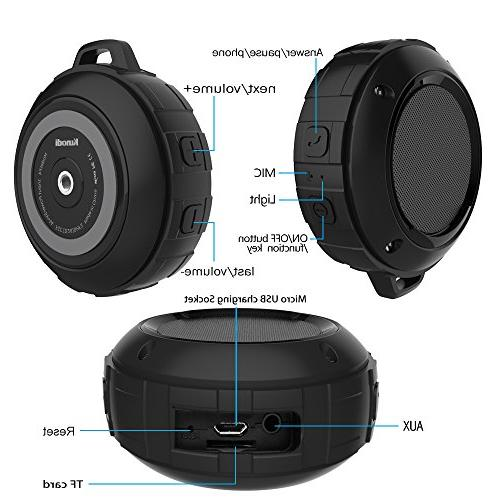 Outdoor Wireless Travel Speaker Subwoofer, Enhanced Bass, Mic Sports, Pool, Beach, Camping
