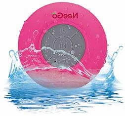 NEEGO Portable Waterproof Shower Speaker Bluetooth 3.0 with