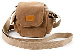 DURAGADGET Tan-Brown Small Sized Canvas Carry Bag Compatible